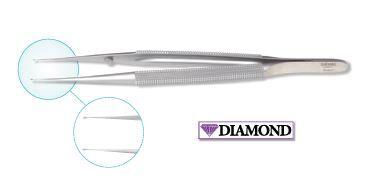 Diamond Coated Micro Tweezer, Straight, Smooth