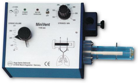 MiniVent Ventilator for Mice (Model 845), Single Animal, Volume Controlled