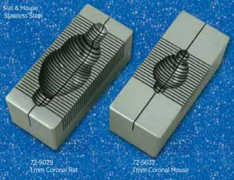 Stainless Steel Coronal Brain Matrices for Rodents
